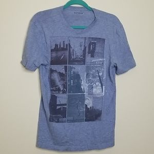 Express M blue city photography cotton tshirt